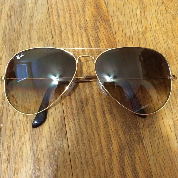 ray ban aviator gold light brown gradient