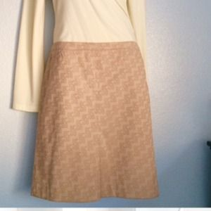 Vintage BCBG MAX AZRIA Logo khaki skirt