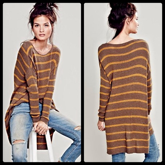 49% off Free People Sweaters - RESERVED HOLD FREE PEOPLE STRIPED ...