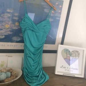 Turquoise blue/green cocktail dress