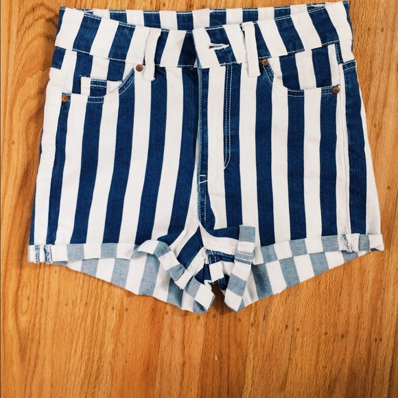 H&m Blue Vertical Striped