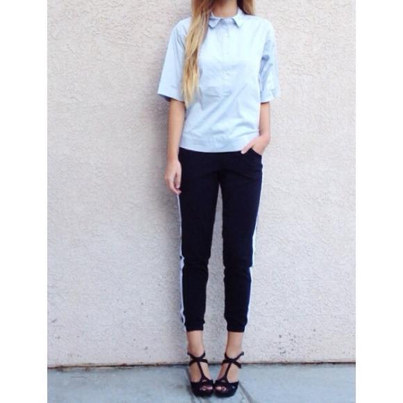• bundled • | new | light blue poplin shirt