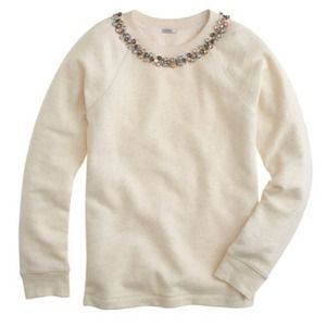 J. Crew Sweaters - JCREW Necklace Sweatshirt
