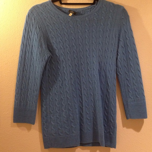85% off J. Crew Sweaters - J.Crew periwinkle blue cable knit ...