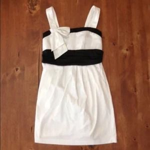 White and Black Love Culture Dress