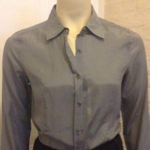 j Crew cotton/silk shirt.