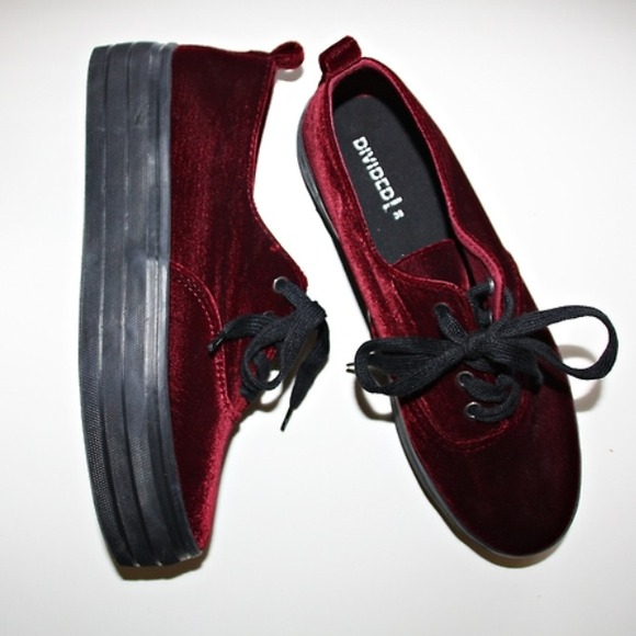 5b6e99a8f191 H M Shoes - RESERVED H M velvet platform sneakers