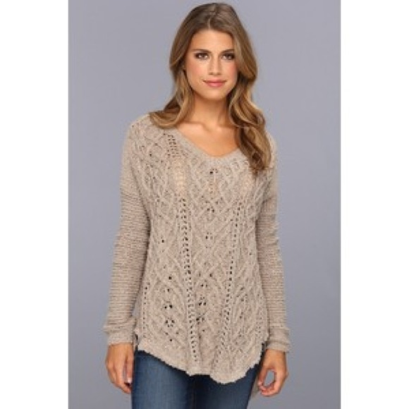 62% off Free People Sweaters - Free People cross my heart knit ...