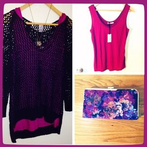 oasis Tops - Oasis UK raspberry orchid pink tank top M