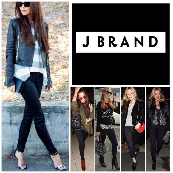 fbde4e6644375 J Brand Black 23110 Luxe Sateen Maria Skinny. NWT.