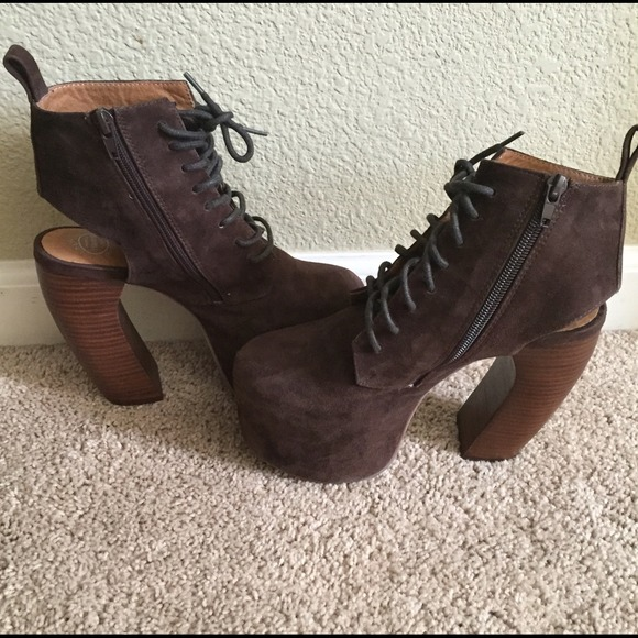 Jeffrey Campbell Shoes Havana Last Suede Brown Size 65