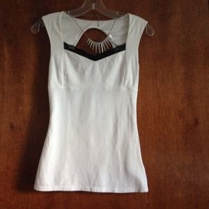 Express White and Black Lace Tank Top Sz. XS