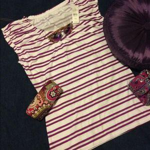 Ann Taylor Loft purple tee