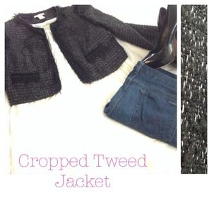 Super Chic Cropped Tweed Jacket