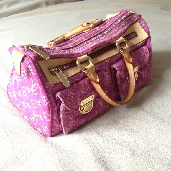 62 off louis vuitton handbags lv pink monogram denim