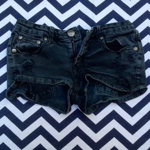 Denim - Black Jean Shorts