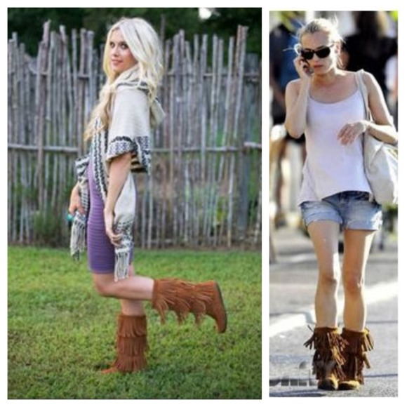 Minnetonka - Minnetonka 3 layer brown fringe boots from Janjan's ...