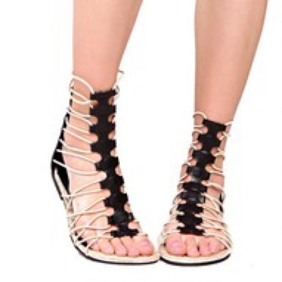 7833d072536 MIA Livi Black Gladiator Sandals