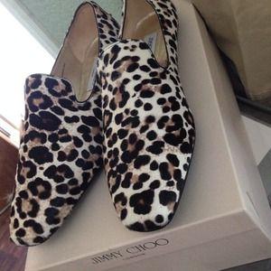 Jimmy Choo Shoes - Jimmy Choo wheel leopard Print Calf hair flats 03d1d2dafb74