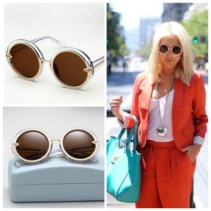 Karen Walker Accessories - [Karen Walker]orbit clear sunglasses