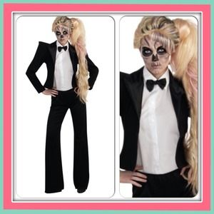Halloween Lady Gaga Tuxedo Costume 🎩One Size 6-12