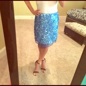 Sequin mermaid blue skirt size 10 gorgeous and fun