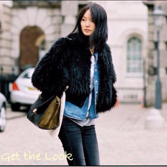 89dd14f4c0 Guess Jackets & Coats | Cropped Faux Fur Jacket Sale | Poshmark