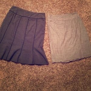 Pencil skirt bundle! One taupe brown and one gray
