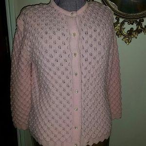 Gorgeous vintage pink cardigan