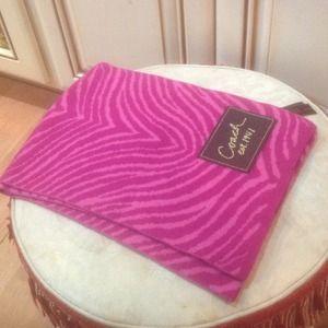 Coach hot pink wool scarf