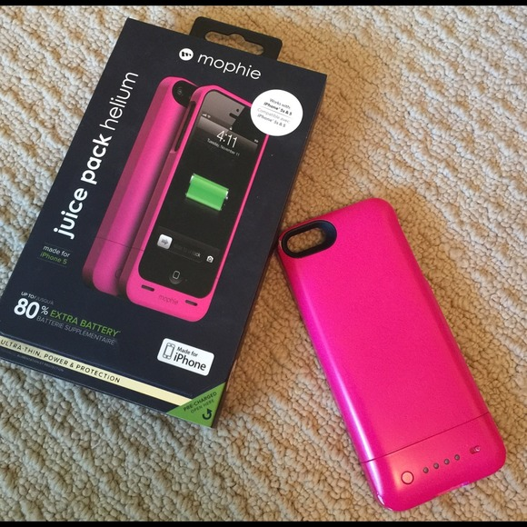 the best attitude d6a75 e0b98 REDUCED iPhone 5 & 5s Hot Pink Mophie