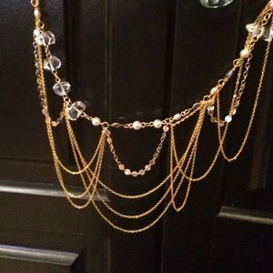 Anthropologie dainty statement necklace