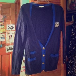 Preppy navy blue Cardigan from Delia's