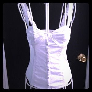 Guess Los Angeles white top