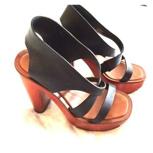 Charles Jourdan Shoes - Charles Jourdon strappy black heels, 7.5
