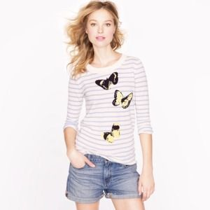 J. Crew Sweaters - Jcrew sweater stripe with butterfly