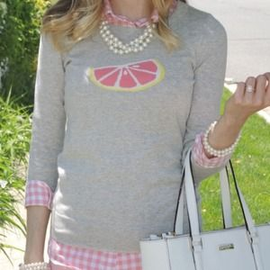 Jcrew grapefruit sweater