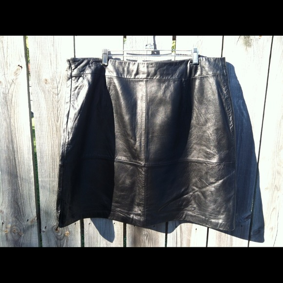 63% off Dresses & Skirts - Leather Skirt size 20 from Deb's closet ...