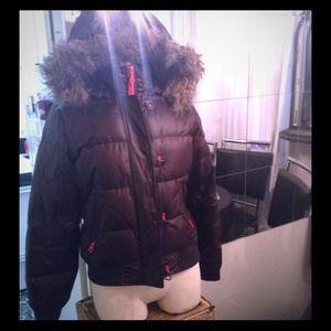 ✌️Brown Peace Gap coat