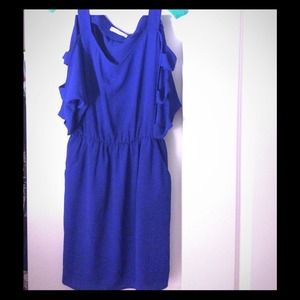Blue dress with arm cut outs