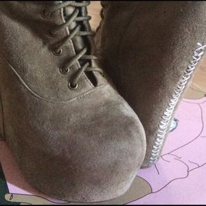 Jeffrey Campbell suede wedges ~
