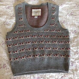 American Eagle crop top sweater vest S gray