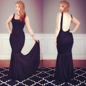 style maxi dress black
