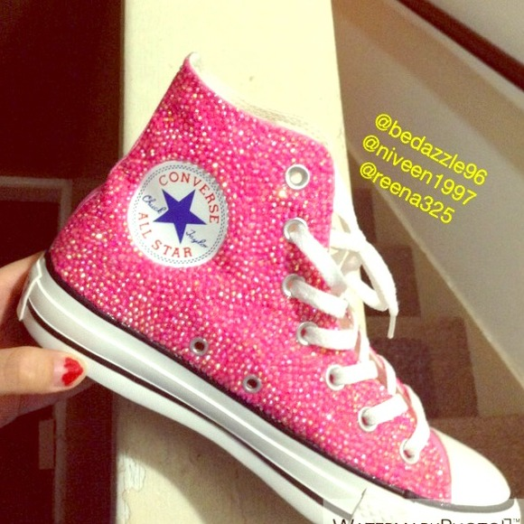 37 Off Shoes Bedazzled Converse From Niveen S Closet On Poshmark