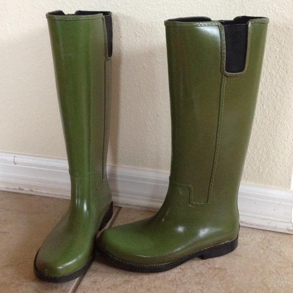 75% off Michael Kors Boots - Michael Kors Army Green Rain Boots ...
