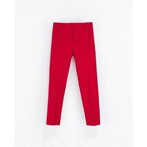Zara Pants - Zara Raspberry Cropped Trousers