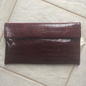Handbags - Urban Expressions Maroon Envelope Clutch