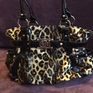 Gia Milani Handbags - Leopard. Hand bag. Purse.