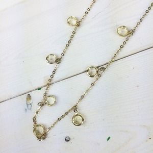 LOFT Jewelry - Long Necklace with Amber Dangling Jewels