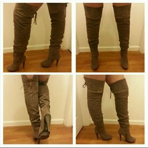 baker thigh high boots on Poshmark